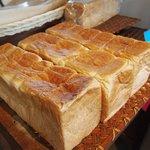 石窯パン工房くすくす - 江藤の食パン(半分)200円