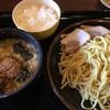 風来軒都城 - 料理写真:「濃厚つけ麺」+ランチサービスのご飯
