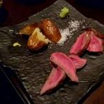 ご飯屋 おむすび - 赤牛のステーキ