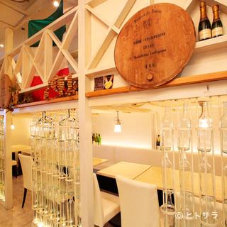 おしゃれでスタイリッシュな空間で絶品イタリアン&ワインをぜひ