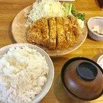 とんかつ幸楽 - 大ロースかつ定食セット(大盛)【料理】