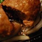 秋よし - ハンバーグの肉汁