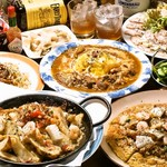 INDIA・ザ・すぱいす - 飲み放題の料理(一例)