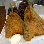 旬魚菜 しら川 - 金アジのフライ フワフワです
