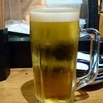 魚屋 ひでぞう - 生ビール 350円(税別)