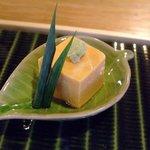 7651185 - なんだろう・・・アン肝豆腐だろうか、美味しい!