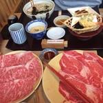 源氏総本店 - しゃぶしゃぶ2980円の肉は北海道産?       味はそんな感じでした。