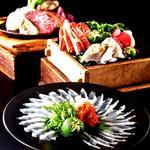 舌鼓コース■ 日本三大和牛最高峰!松阪牛ロース×伊勢海老、鮑、天然真鯛、大トロ雲丹寿司