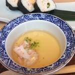 源氏総本店 - しゃぶしゃぶに付いてきたカニの       茶碗蒸しです。