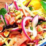 タイサラミのハーブサラダ ヤム・ネーム