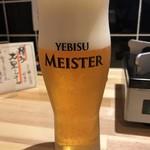 鴨と葱 淀水二行 - ヱビス マイスター 飲み放題でこのビールは嬉しいですね~