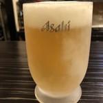 博多もつ鍋 いぶき - まずは生で乾杯!