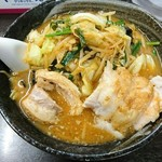 76515040 - 味噌野菜麺 750円、チャーシュー 200円(1枚100円で2枚注文)