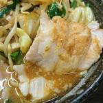 76515046 - 味噌野菜麺 750円、チャーシュー 200円(1枚100円で2枚注文)