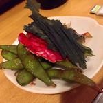 川京 - パリパリワカメと変わり枝豆