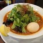 麺屋 愛心 河渡本店 - パクチーX+味玉トッピング