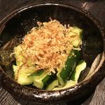 炭火焼dining おかげ家 - きゅうりのタタキ(280円)