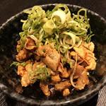 炭火焼dining おかげ家 - 鳥ホルモンねぎまみれ(380円)