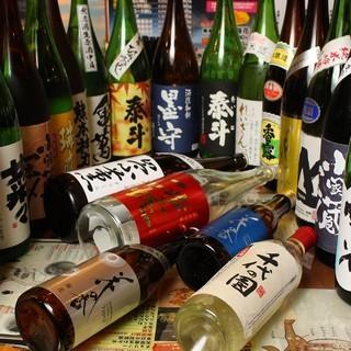 熊本の全部の日本酒、焼酎が揃ってます。