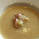 くうくう倶楽部 - 冬瓜のスープ  ベーコンと安納芋添え