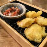 天ぷらスタンド KITSUNE - とり天 山椒サルサソース