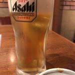 おもいで横丁 - 生ビール(アサヒスーパードライ)