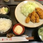 かつ源 - かきフライ定食1,300円(税込)