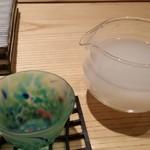 鮨 巳之七 - 寒北斗(にごり酒)。