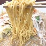 らーめん大将 - 信玄ちゃんぽんの麺