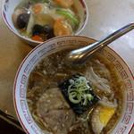 中華徳大 - 徳大セット(半ラーメン&徳うま丼)800円
