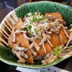 お清水 - 茸がのった醤油カツ丼