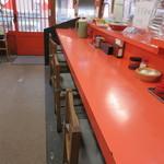 みんずラーメン - カウンター席とテーブル席が有ります♪