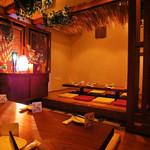 個室×肉×鉄板料理専門店 Enfin - 【3F】完全個室の南国掘りごたつ席!