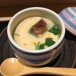 鮓 芳月 - ランチの茶碗蒸し                                                                         三つ葉の香り良く 滑らかな舌触り