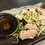 水炊き・焼鳥 とりいちず - ×鶏肝のレバ刺し風399円