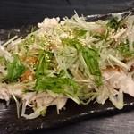 水炊き・焼鳥 とりいちず - △ヨダレ鶏棒棒鶏風399円