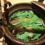 76546967 -  合鴨ロースと水菜の土瓶蒸し
