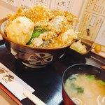 天ぷ羅 重天 - 料理写真:天丼1000円に牡蠣と卵トッピング