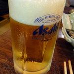 肉のすずき - もちろん生ビール!