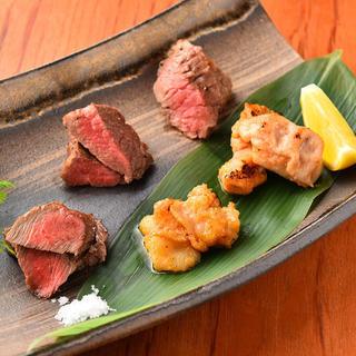 山形牛赤身肉が60g・900円(税抜)~楽しめる♪