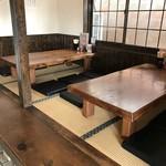 かしわ家 - 店内、小上がりの座敷(2017.11.17)