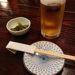 祭り茶屋 - 生ビールとお通し
