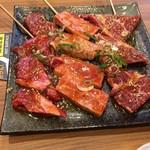 大徳園 - 料理写真:A4黒毛和牛のカルビ、ロース、ヒレ肉 此れで1人分です。豪華過ぎかも…。(^^;