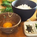 日本一の地鶏・比内地鶏の卵かけごはん