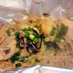 ののすけ - 牡蠣とエノキのホイル焼き