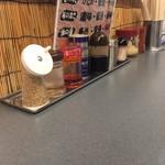 大和達磨家 - 料理写真:卓上の薬味達