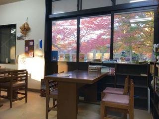 大日茶屋 - 店内からも紅葉が楽しめます