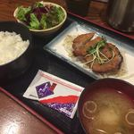 76573080 - 豚肩ロースの味噌付け焼き定食  ¥860.-