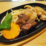 お好み焼 むら - 鉄板肉盛り定食