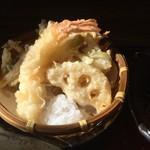 小魚阿も珍 - 天ぷら